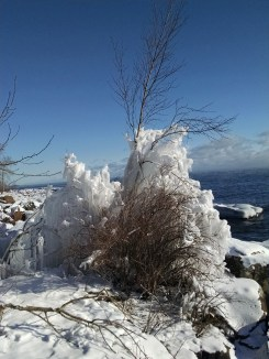 Brighton Beach, Duluth, Minn. I took this after a Lake Superior ice storm.